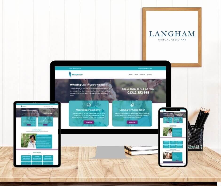 Unfading Care - Virtual Website Assistant
